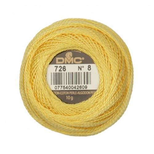 Dmc Koton Perle Yumak 10 Gr Sarı No:8 - 726