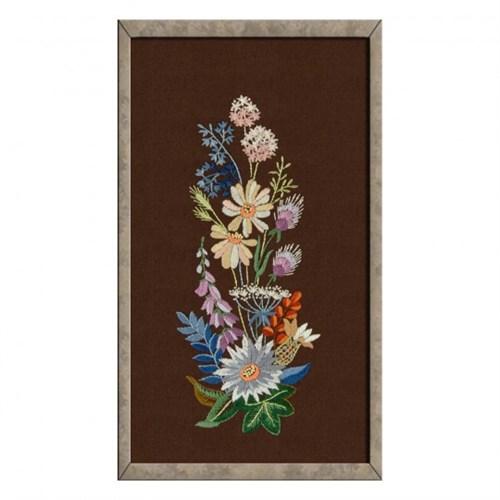Duftin 40X50 Cm Çiçek Desenli Tablo Çin İğnesi Nakış Kiti - 14335-Aa0991