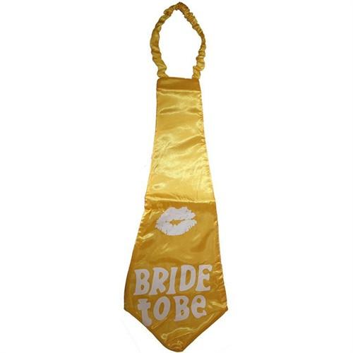 Pandoli Bride To Be Yazılı Mega Boy Kravat Sarı