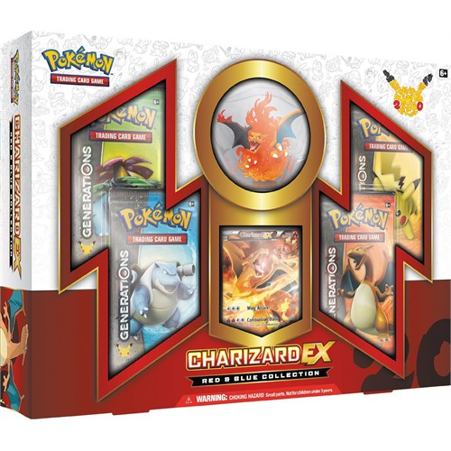 Pokemon Tcg Charizard Ex Box Red&Blue Collection