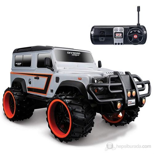 Maisto Land Rover Defender Uzaktan Kumandalı Araba 1:16 Maisto Tech Gri