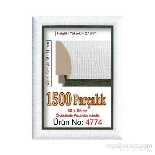 Heidi Puzzle Çerçevesi 1500'lük Polistiren Siyah Beyaz 85 x 60 Cm