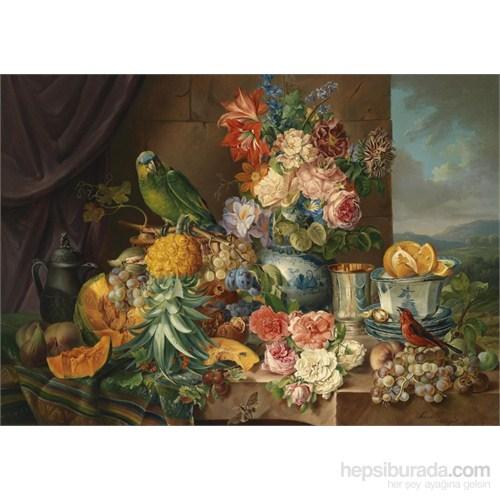 Puzz 2000 Parça Çiçekler Ve Papağan Puzzle