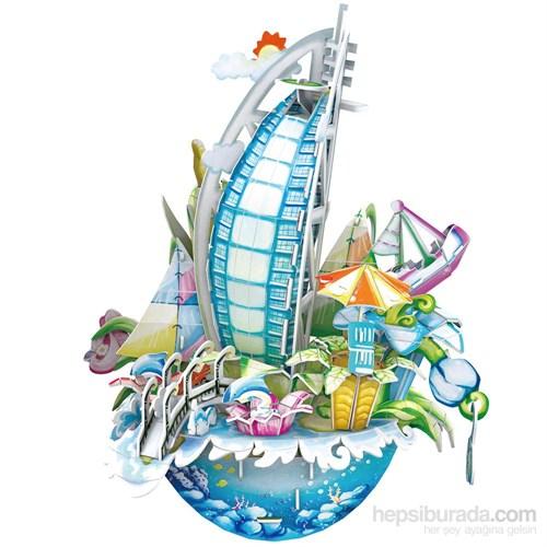 Cubic Fun 3D 57 Parça Puzzle Cityscape - Dubai