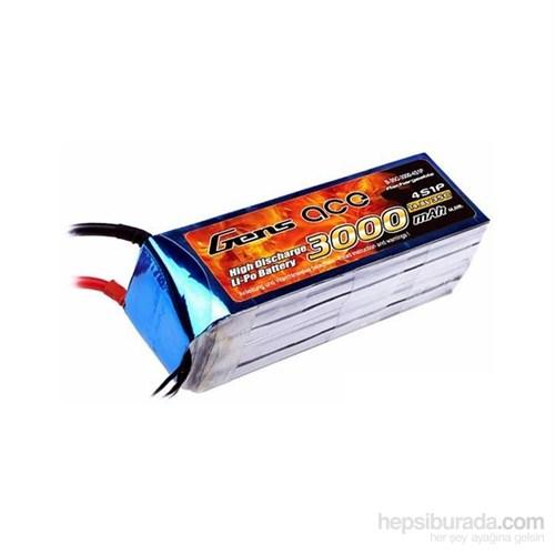 Gens Ace 3000Mah 14.8V 35C 4S1p Lipo Batarya