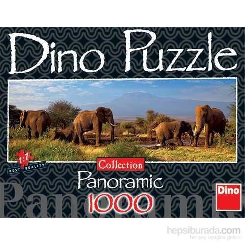 Herd Off Elephants (1000 Parça, Panorama)