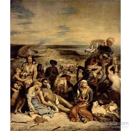 Massacre At Scio, Eugene Delacroix (1500 Parça Puzzle)