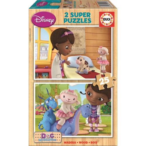 Educa Puzzle Çocuk 2 X 25 Parça Disney Doc Mcstuffins