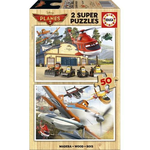 Educa Puzzle Çocuk 2X50 Parça Disney Planes