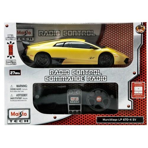 Maisto Lamborghini Murcielago LP 670-4 SV Tech Uzaktan Kumandalı Araba 1:24