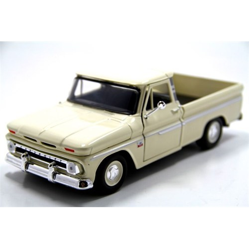 Motormax 1:24 1966 Chevy C10 Fleetside Pickup -Krem Model Araba