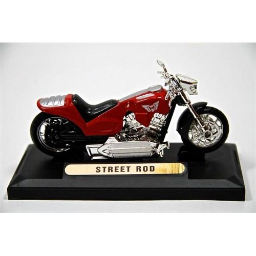 Street Rod 1:18 Model Motorsiklet Kırmızı (Motormax)