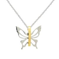 Chavin Kelebek Altın Kaplama Çelik Kolye be62