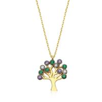 Diva Pırlanta 14 Ayar Altın Hayat Ağacı Kolye