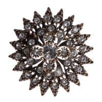 Aşina Gümüş Elmas Montür Broş Muhteşem Yüzyıl Hurrem Harem Serisi