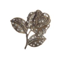 Aşina Gümüş Anne Sevgiliye Hediye Swarovski Taşlı Gül Broş Muhteşem Yüzyıl Hurrem Harem Serisi