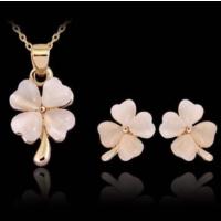 Yeni Tasarım Set Kolye ve Küpe Opal Taş Sevgiliye Özel Hediyeler