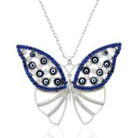 Else Silver Kutsal Mavi Kelebek Kolye