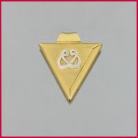 Tuğrul Kuyumculuk Yeşil Beyaz Altın Taşsız Kolye Ucu