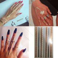 Leydika Saç El Parmak için Flash Tattoo Geçici Dövme 232