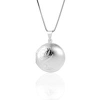 Azuris Silver Uzun Zincir Açılır Madalyon Kolye