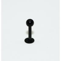 Cadının Dükkanı 316L Cerrahi Çelik Toplu Siyah Dudak Piercing (6 mm)
