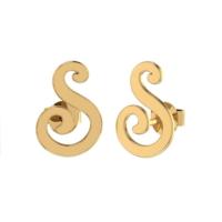 Goldstore 14 Ayar Altın Harf Küpe Pnj40479