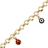 AltınSepeti Altın Uğur Böceği Şans Bilekliği AS102BL