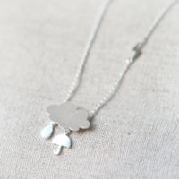 Affix Silver Gümüş Özel Tasarım Yağmur Bulutu Kolyesi