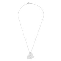 Affix Silver Gümüş Kalp Plaka Harf Kolyesi