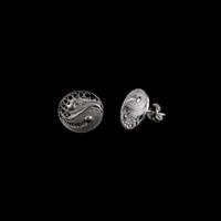 Akyüz Gümüş İyilik Ve Kötülük Simgeli Telkari Gümüş Küpe Kpt022