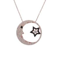 Sanroza Gümüş Takı Ay Yıldız Aydede Gümüş Kolye 1279