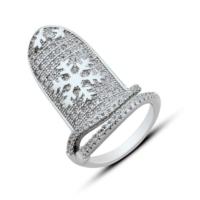 Bella Gloria Kartanesi Tırnak Gümüş Yüzük (GY00320)