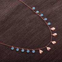 Sümer Telkari Trend Tiffany Ros Gümüş Kolye 1785