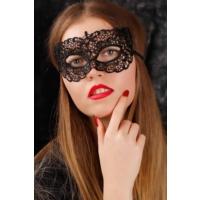 Morvizyon Siyah Renk Dantel Bayan Maske
