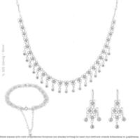 Çağrı Gümüş Midyat Gümüş Telkari Tek Sıra Kişniş Set Takı