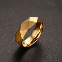 Chavin Bayan-Erkek Parlak Aynalı Gold Tungsten Yüzük Dm77 19