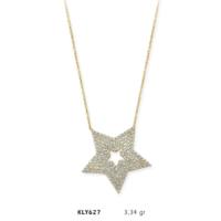 Romeo Pırlanta 14 Ayar Altın Yıldız Kolye - Kly627