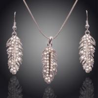 Myfavori Takı Seti Tüy Tasarım Kolye Ve Küpe Avusturya Crystal Takı Seti