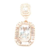 Nusret Takı 925 Ayar Gümüş Prenses Ve Baget Taşlı Özel Kolye Ucu