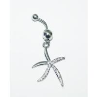 Cadının Dükkanı 316 L Cerrahi Çelik Deniz Yıldızı Göbek Piercing K1128