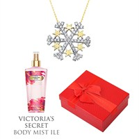 Melis Gold Altın Kartanesi Kolye Hp0132 + Victoria's Secret Body Mist ile