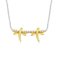 Altınsepeti Gümüş Sadık Kalpler Yusufçuk Kolye Asmf019476