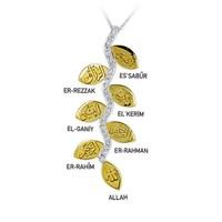 Ariş Pırlanta Altın Esma-İ Hüsna 7 İsim Allah Kolye