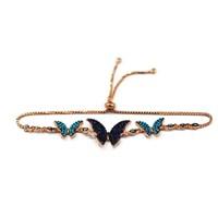 Beyazıt Takı 925 Ayar Gümüş Mavi Turkuaz Kelebek Bileklik