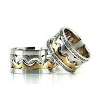 Berk Kuyumculuk Gümüş Alyans 5828(çift)