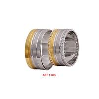 Arjuna Gümüş Tek Taş El İşi Çift Alyans Al1103