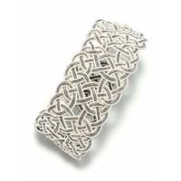 Nusret Takı 999 Ayar Gümüş El Örmesi Kazaziye Kalın Bileklik