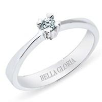 Bella Gloria 14 Ayar 3,4 Gr 0,06 Karat Kalp Tırnaklı Tektaş Pırlanta Yüzük (SL00T46)