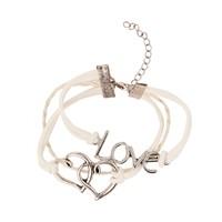 Betico Fashion Beyaz Aşk Bilekliği